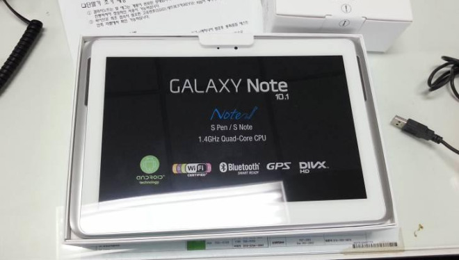 Samsung Galaxy Note 10.1 Note new specs revealed