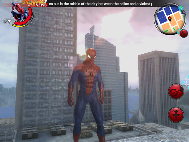 The Amazing Spider-Man game for android Review