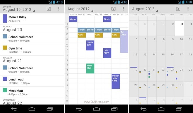 how to make a calendar app in android studio