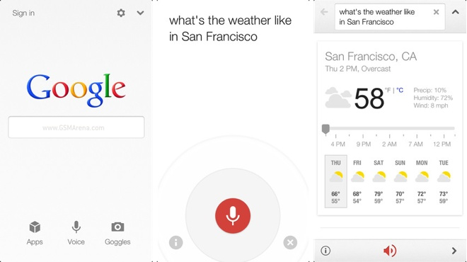 google voice search app for windows