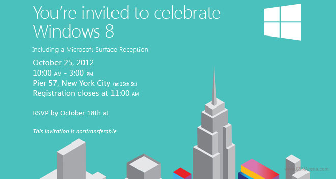 microsoft event on october 25 will launch windows 8 and surface tablet