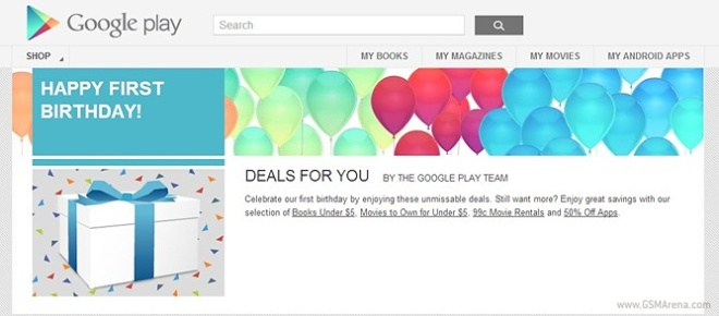 Google Play turns one, offers great deals through its ...