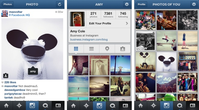 Instagram 35 update brings photo tagging minor ui changes ccuart Image collections