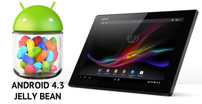 Sony Xperia Tablet Z gets official Android 4.3 Jelly Bean ...