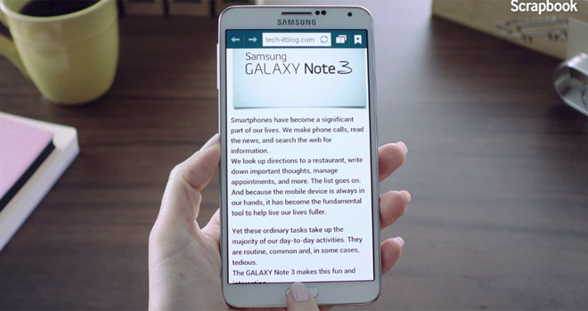 Samsung outs an official, extra long hands-on video of the Galaxy Note 3 and Galaxy Gear