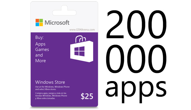 Windows Phone Store reaches 200,000 apps