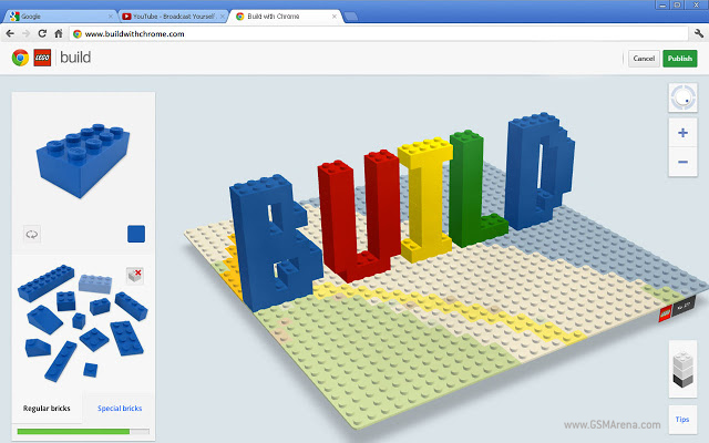 Chrome and lego team up to build brick creations online for Building builder online