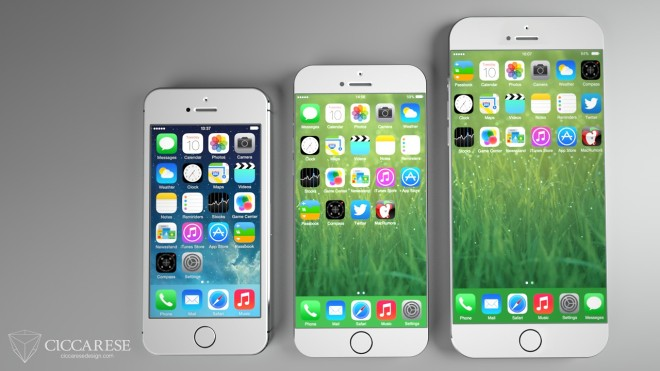 Here's what a big screen iPhone 6 could look like