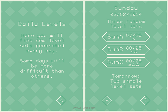 as For The Main Levels