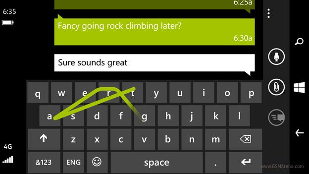 Mẹo nhỏ tạo chữ in hoa nhanh chóng trong Windows Phone 8 1