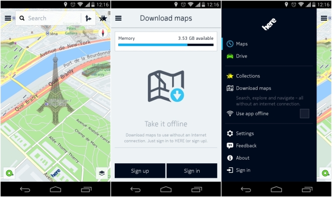 Nokia HERE Maps APK for Android leaks