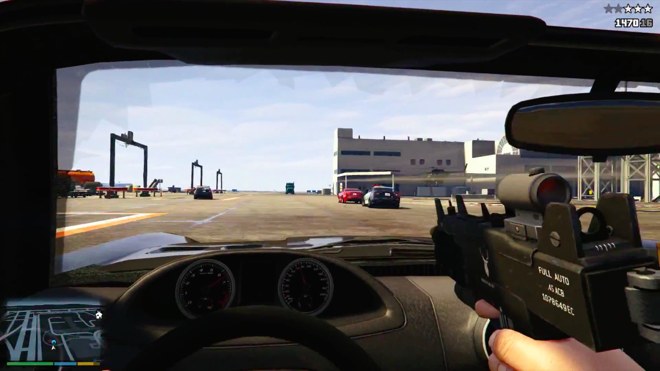 gta v ps4 how to change to first person