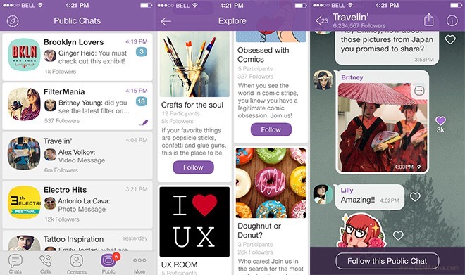 gsmarena_002 viber launches public chats social entertainment channel,Viber Invite