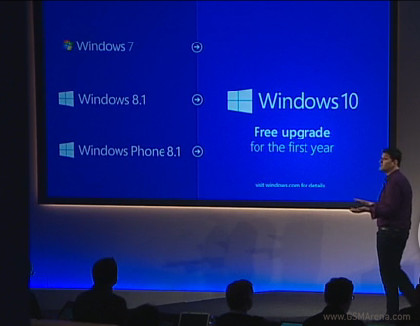 Windows 10 will be a free upgrade from Windows 7 or ...