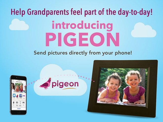 Pigeon is a cloud-syncing picture frame your mother will love