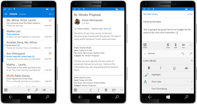 Microsoft shares new Windows 10 design for phones