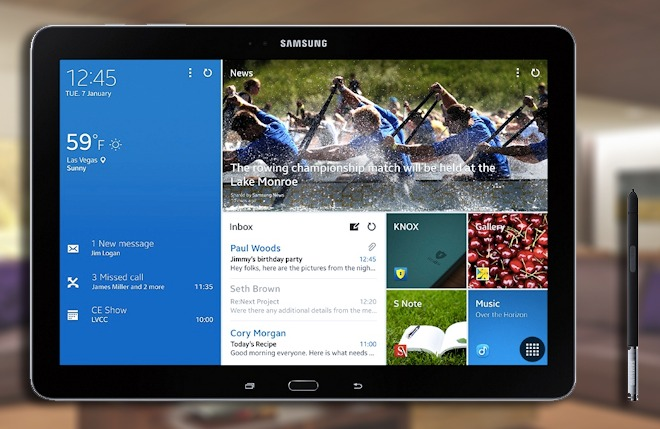 Lollipop has arrived for the LTE-capable Samsung Galaxy Note Pro 12.2