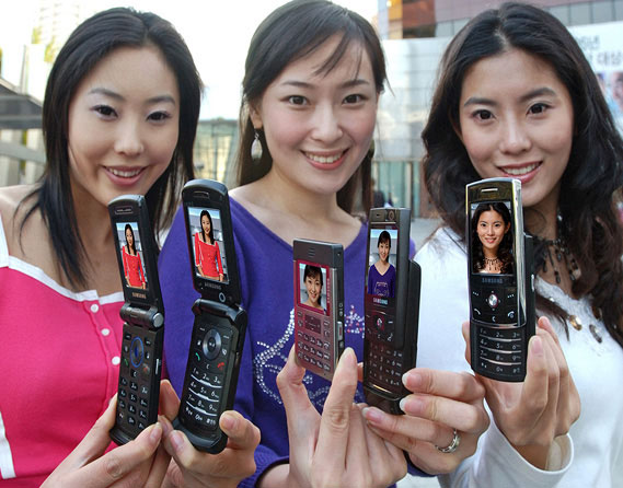 Five new slim mobile phones from Samsung