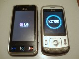 LG KC780 next to LG Renoir