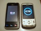 LG KC780 next to LG Renoir