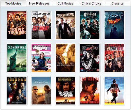 Samsung Movies site