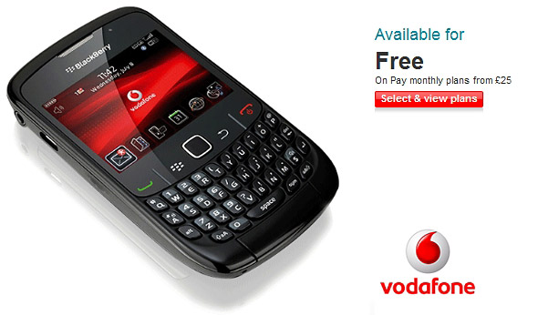 BlackBerry 8520 hits Vodafone