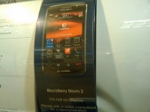 BlackBerry Storm 2 display at Carphone Warehose