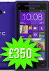 HTC Windows Phone 8X Three UK PAYG pricing  set at £350