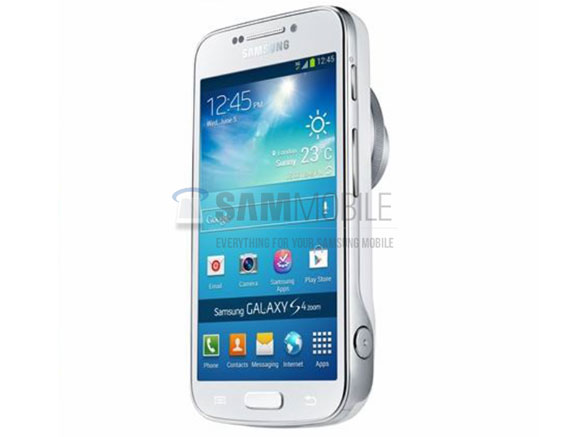 Samsung Galaxy S4 Zoom pictured in an official photo