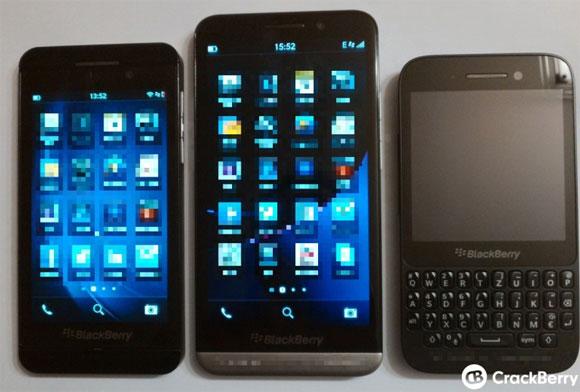 โชว์เครื่อง BlackBerry Z30 อีกครั้ง เทียบกับ BlackBerry Z10 และ Q50