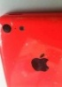 Images of Apple iPhone 5C shells in red surface - read the full text