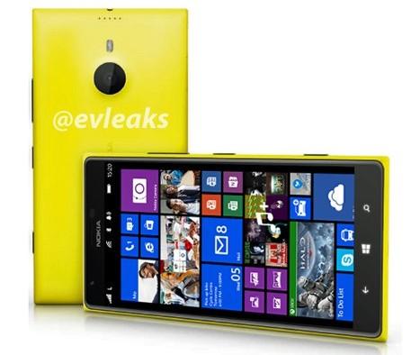ปรากฏรูป Nokia Lumia 1520 ใช้ดีไซน์เดียวกับ Lumia 925 แต่จอมีขนาดใหญ่ขึ้น