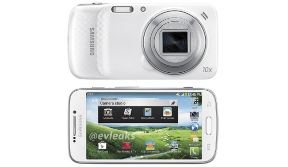 Press image of Samsung Galaxy S4 Zoom with AT&T attire ...