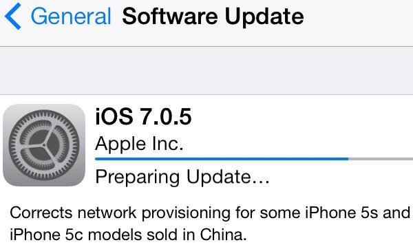 gsmarena 001 - Apple launches iOS 7.0.5 iPhone update in several regions