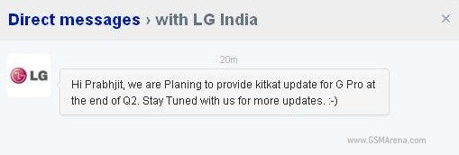 LG Optimus G Pro to get Android 4.4 KitKat by end of Q2 2014?