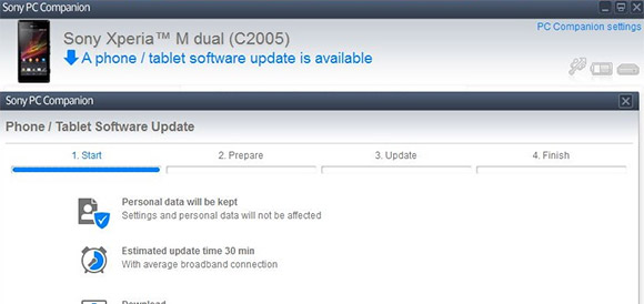 Sony outs Android 4.3 update for Xperia M Dual