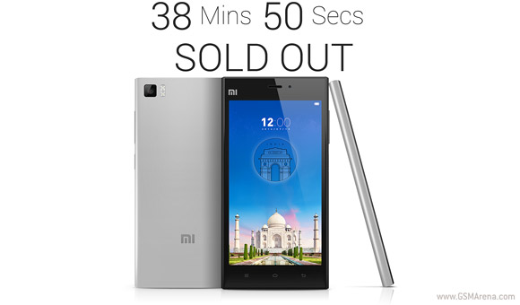 gsmarena 001 Xiaomi Mi 3 sells out in India in under 40 minutes
