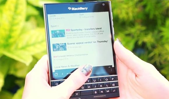 The New BlackBerry Passport Shown off in a video!