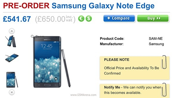 gsmarena 001 Samsung Galaxy Note Edge gets priced in the UK