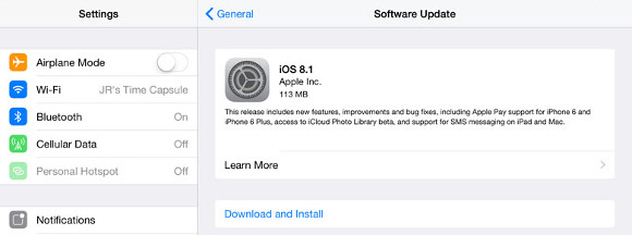 iOS 8.1 is now rolling out, ready to download and install