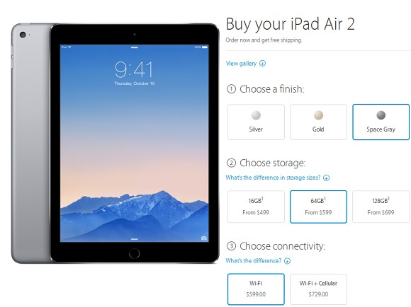 apple ipad air 2 and mini 3 go on pre order. Black Bedroom Furniture Sets. Home Design Ideas
