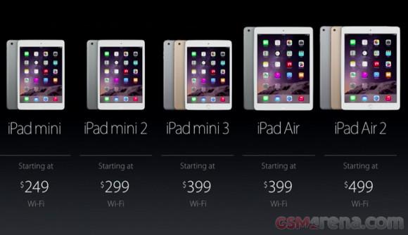gsmarena 001 Apple iPad Air, iPad mini 2, and iPad mini get price cuts