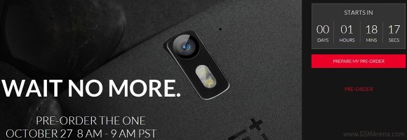 OnePlus One pre-orders start today, for an hour