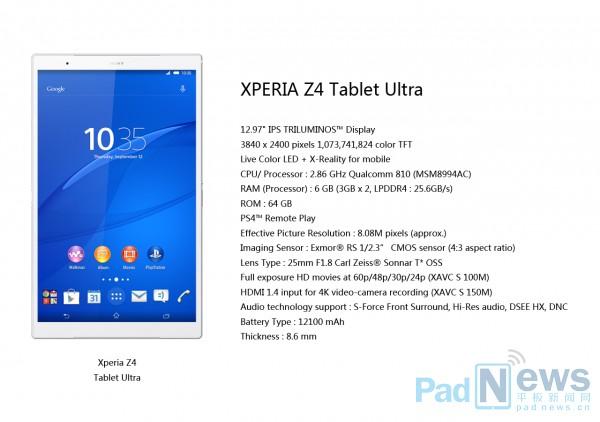 Waoh! 13-inch Sony Xperia Z4 Tablet Ultra in progress