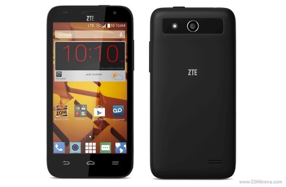 can your zte speed screen size the way