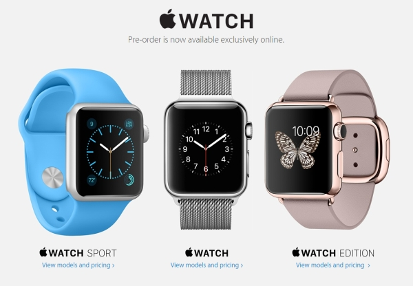 Apple Watch now available for pre-order on Apple online ...