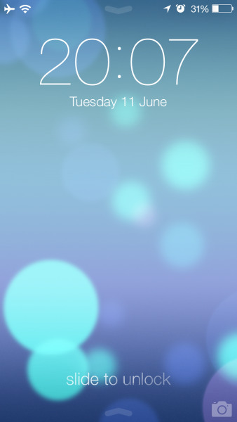 Lock screen in iOS 7