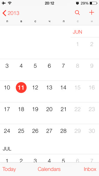 Calendar for iOS 7