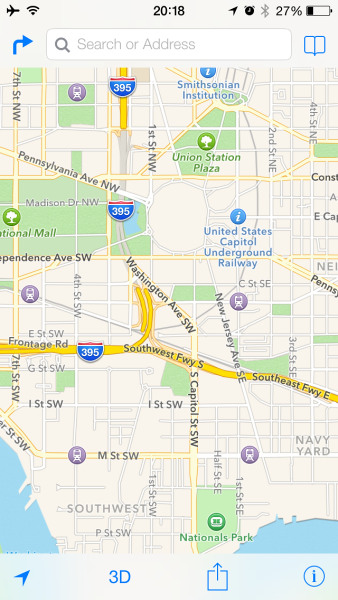 Maps in iOS 7