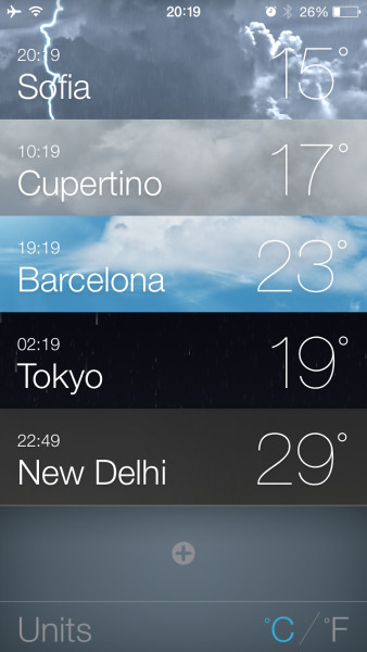 Weather in iOS 7
